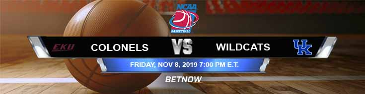 Eastern Kentucky Colonels vs Kentucky Wildcats 11-08-2019 Preview Spread and Odds