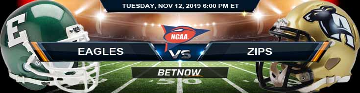 Eastern Michigan Eagles vs Akron Zips 11-12-2019 Picks Predictions and Previews