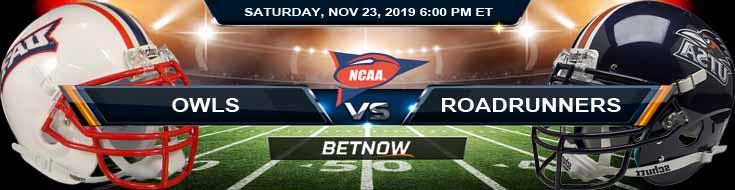 Florida Atlantic Owls vs UTSA Roadrunners 11-23-2019 Game Analysis Picks and Previews