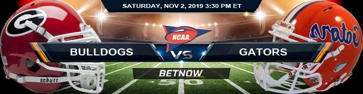 Georgia Bulldogs vs Florida Gators 11-02-2019 Picks Spread and Predictions