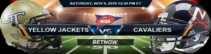 Georgia Tech Yellow Jackets vs Virginia Cavaliers 11-09-2019 Spread Picks and Prediction