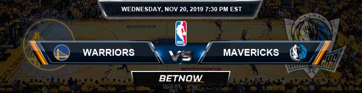 Golden State Warriors vs Dallas Mavericks 11-20-2019 Spread Odds and Picks