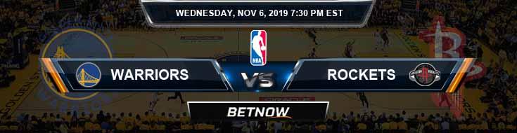 Golden State Warriors vs Houston Rockets 11-06-2019 NBA Odds and Picks