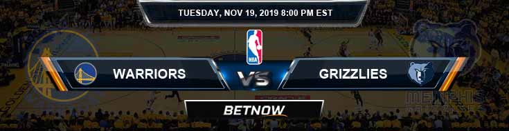 Golden State Warriors vs Memphis Grizzlies 11-19-2019 NBA Odds and Picks