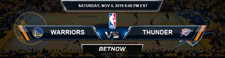 Golden State Warriors vs Oklahoma City Thunder 11-09-2019 NBA Odds and Picks