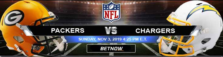 Green Bay Packers vs Los Angeles Chargers 11-03-2019 Odds Game Analysis and Previews