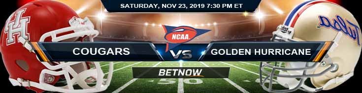 Houston Cougars vs Tulsa Golden Hurricane 11-23-2019 Predictions Odds Previews