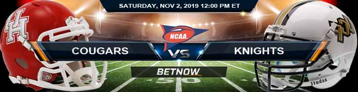 Houston Cougars vs UCF Knights 11-02-2019 Picks Predictions and Previews