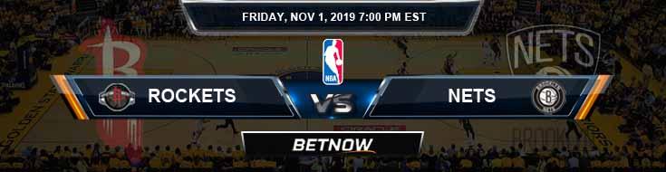 Houston Rockets vs Brooklyn Nets 11-01-2019 NBA Picks and Previews