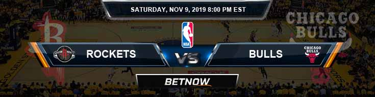 Houston Rockets vs Chicago Bulls 11-09-2019 NBA Odds and Previews
