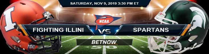 Illinois Fighting Illini vs Michigan State Spartans 11-09-2019 Game Analysis Odds and Preview