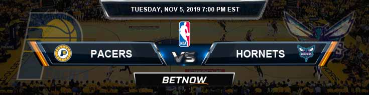 Indiana Pacers vs Charlotte Hornets 11-05-2019 Odds Picks and Previews
