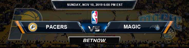 Indiana Pacers vs Orlando Magic 11-10-2019 NBA Picks and Previews