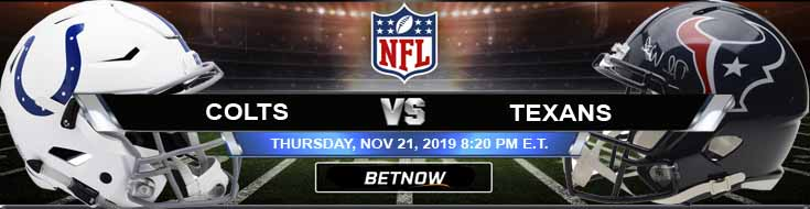 Indianapolis Colts vs Houston Texans 11-21-2019 Picks Predictions and Previews
