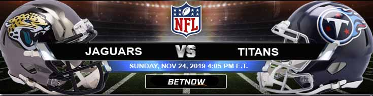 Jacksonville Jaguars vs Tennessee Titans 11-24-2019 Odds Spread and Predictions