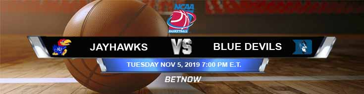 Kansas Jayhawks vs Duke Blue Devils 11-05-2019 Preview Picks and Odds