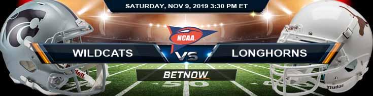 Kansas State Wildcats vs Texas Longhorns 11-09-2019 Picks Odds and Spread