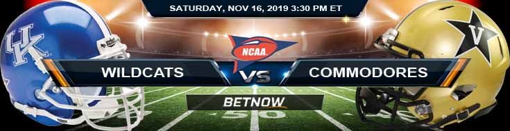 Kentucky Wildcats vs Vanderbilt Commodores 11-16-2019 Game Analysis Odds and Picks