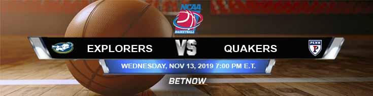 La Salle Explorers vs Pennsylvania Quakers 11-13-2019 Game Analysis Odds and Predictions