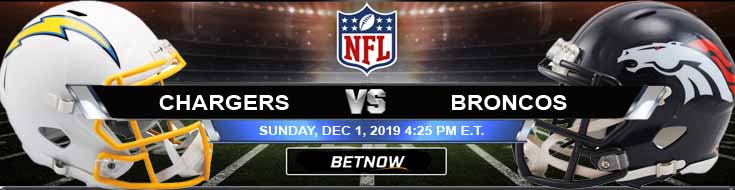 Los Angeles Chargers vs Denver Broncos 12-01-2019 Picks Game Analysis and Odds