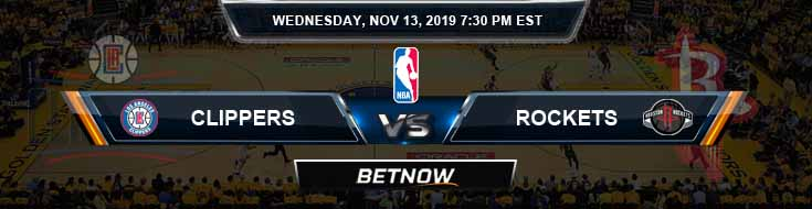 Los Angeles Clippers vs Houston Rockets 11-13-2019 NBA Odds and Picks