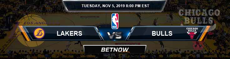 Los Angeles Lakers vs Chicago Bulls 11-05-2019 Picks Previews and Prediction