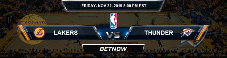 Los Angeles Lakers vs Oklahoma City Thunder 11-22-2019 NBA Odds and Picks