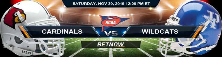 Louisville Cardinals vs Kentucky Wildcats 11-30-2019 Top Sports Books Picks and Game Analysis