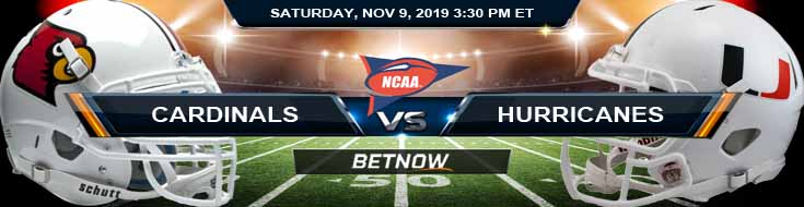Louisville Cardinals vs Miami Hurricanes 11-09-2019 Picks Game Analysis and Odds