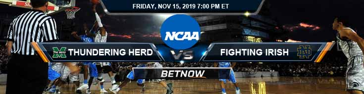 Marshall Thundering Herd vs Notre Dame Fighting Irish 11-14-2019 Odds Game Analysis and Picks