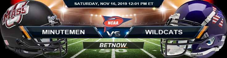 Massachusetts Minutemen vs Northwestern Wildcats 11-16-2019 Picks Game Analysis and Odds