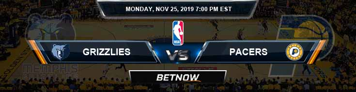 Memphis Grizzlies vs Indiana Pacers 11-25-2019 Spread Picks and Previews