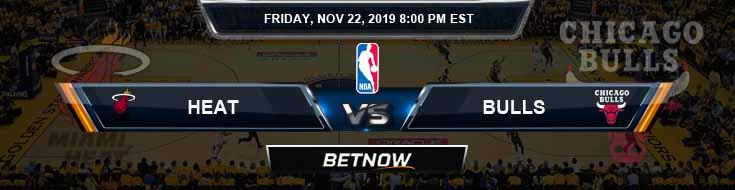 Miami Heat vs Chicago Bulls 11-22-2019 Odds Picks and Game Analysis