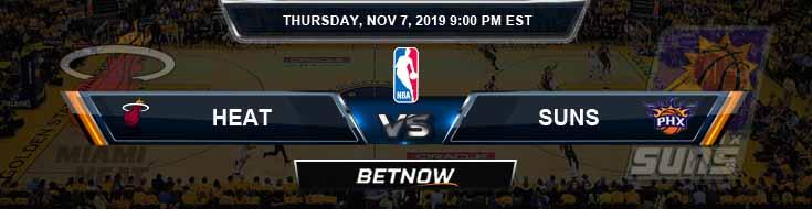 Miami Heat vs Phoenix Suns 11-07-2019 NBA Odds and Game Analysis