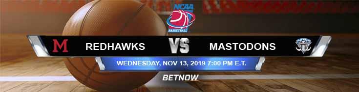 Miami-Ohio Redhawks vs IPFW Mastodons 11-13-2019 Picks Spread and Previews