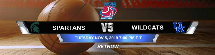 Michigan State Spartans vs Kentucky Wildcats 11-05-2019 Picks Preview and Game Analysis