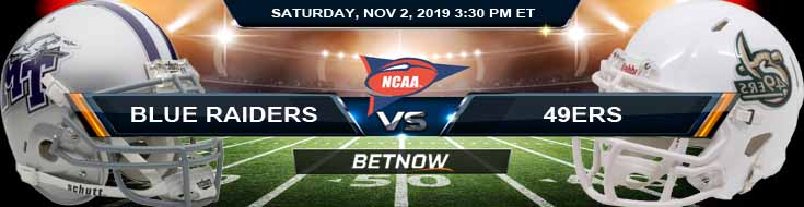 Middle Tennessee Blue Raiders vs Charlotte 49ers 11/02/2019 Odds, Picks and Game Analysis