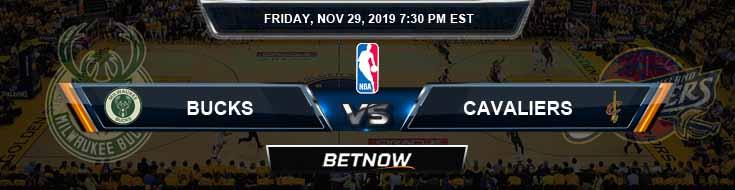Milwaukee Bucks vs Cleveland Cavaliers 11-29-2019 Spread Picks and Previews