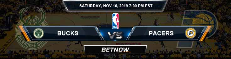 Milwaukee Bucks vs Indiana Pacers 11-16-2019 Spread Picks and Previews