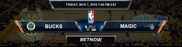 Milwaukee Bucks vs Orlando Magic 11-01-2019 NBA Odds and Prediction
