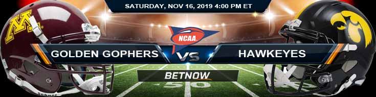Minnesota Golden Gophers vs Iowa Hawkeyes 11-16-2019 Picks Predictions and Odds