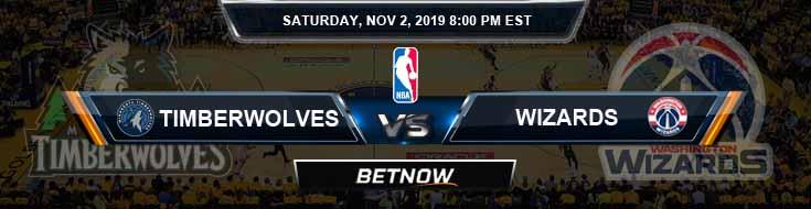 Minnesota Timberwolves vs Washington Wizards 11-02-2019 NBA Odds and Picks