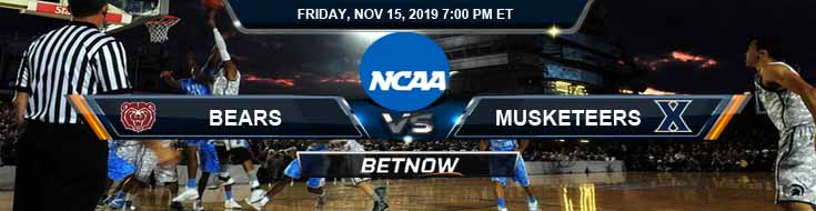 Missouri State Bears vs Xavier Musketeers 11-15-2019 Predictions Odds and Preview