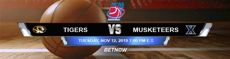 Missouri Tigers vs Xavier Musketeers 11-12-2019 Game Analysis Odds and Preview