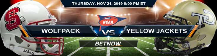NC State Wolfpack vs Georgia Tech Yellow Jackets 11-21-2019 Picks Predictions and Previews
