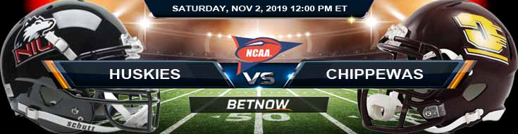 NU Huskies vs Central Michigan Chippewas 11-02-2019 Picks Previews and Spread