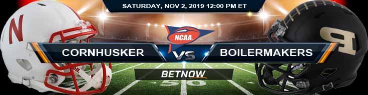Nebraska Cornhuskers vs Purdue Boilermakers 11-02-2019 Predictions, Odds and Preview