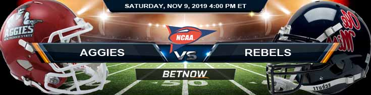 New Mexico State Aggies vs Ole Miss Rebels 11-09-2019 Picks Odds and Predictions