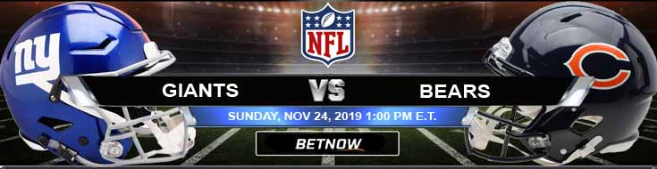 New York Giants vs Chicago Bears 11-24-2019 Game Analysis Picks and Odds