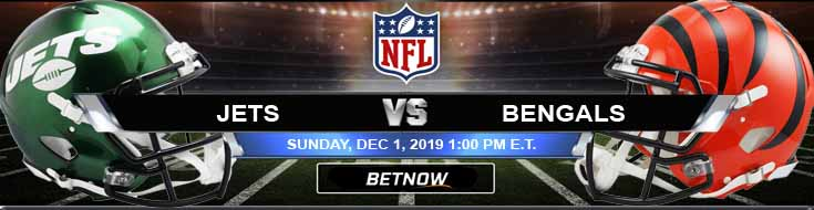 New York Jets vs Cincinnati Bengals 12-01-2019 Picks Predictions and Previews
